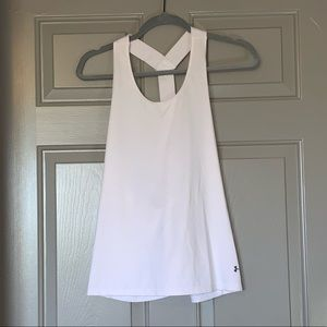 White under armour tank top.